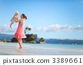 sea, ocean, mother 3389661