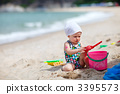 sea, sand, playing 3395573