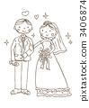 wedding, dress, bridegroom 3406874