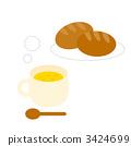 早餐 矢量 提神 3424699