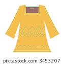 Stitch Embroidery Tunic Dress (Yellow) 3453207