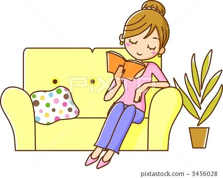 A woman reading 3456028