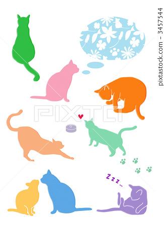 貓的剪影 3457544