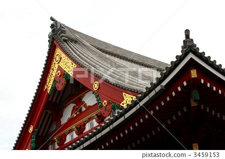 Asakusa Temple Titanium molded roof tile 3459153