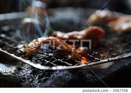 구운 고기, 야키니쿠, 숯불 구이 3467358