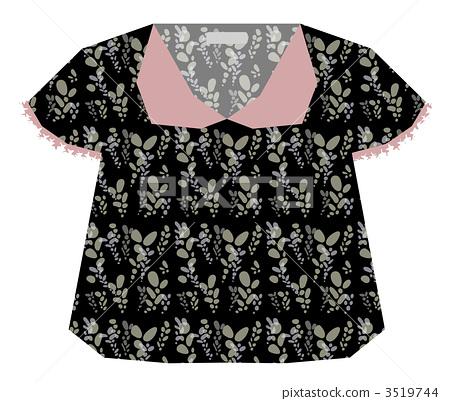Light floral blouse (black 3519744