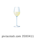 Illustration of white wine 3580411