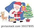 微笑與禮物的聖誕老人 3607895