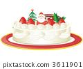 與聖誕老人的聖誕節蛋糕 3611901