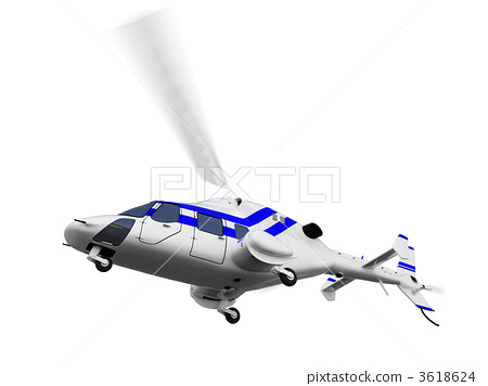 helicopter over white 3618624