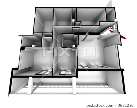 Architectural model in white close up 3621256