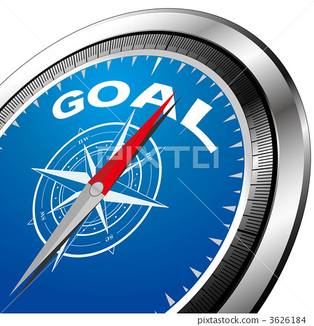A compass pointing to the goal 3626184