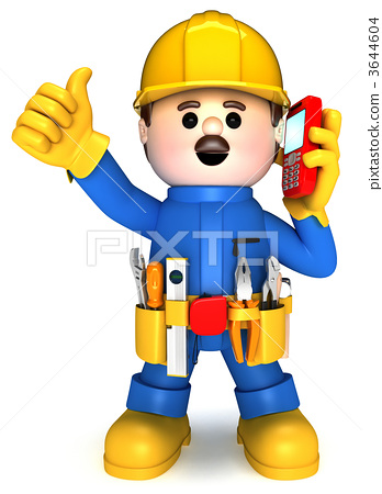 Fully equiped craftsman mascot 3644604