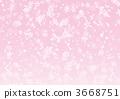 배경 벚꽃 눈보라 3668751
