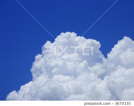 夏天的雲 底圖 背景 3670135