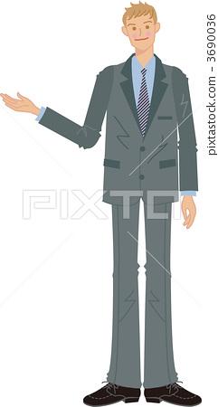 Introducing businessmen 3690036
