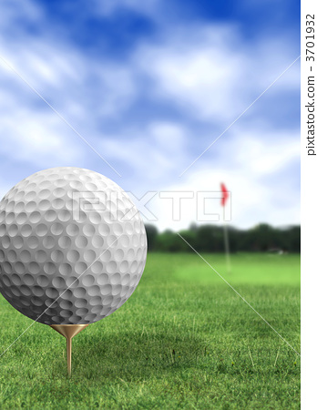 golf ball close up in a course 3701932