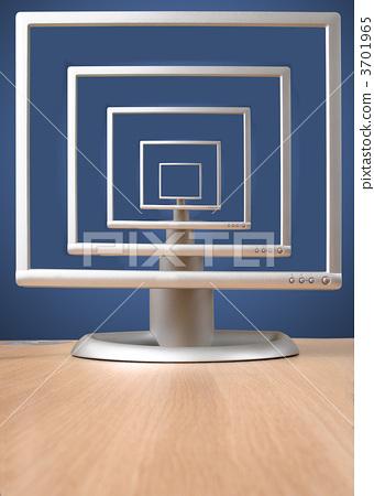 grey monitor on desk - infinity 3701965