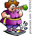 Hand-drawn Vector illustration of an Fat Lady 3742692