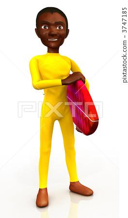 3D surfer 3747185