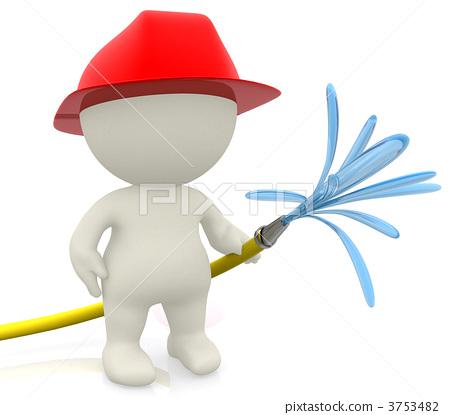 3D firefighter 3753482