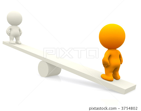 People on a seesaw 3754802