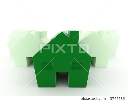 Green house in 3D 3763386