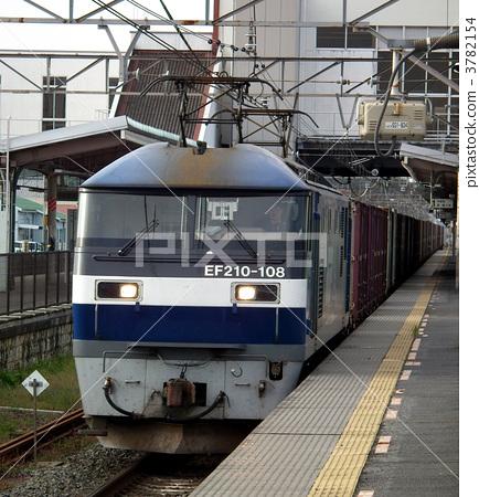 貨運列車EF 210桃太郎集裝箱Mashida站 3782154