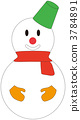 눈사람, 겨울, 크리스마스 3784891