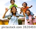 happy family portrait having fun 3826469