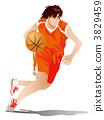 드리블, 농구, 여성 3829459