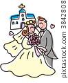 bride, wedding, dress 3842808