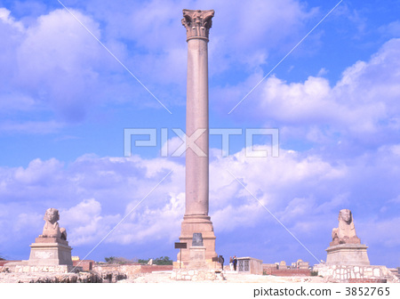Pompeii pillars and Sphinx 3852765