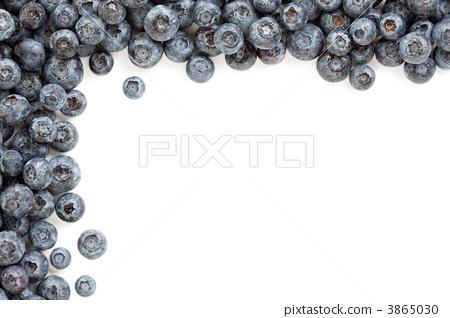 Fresh Blueberries Border 3865030