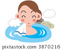 A woman on a hot spring 3870216