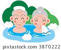 Elderly couple's hot spring trip 3870222