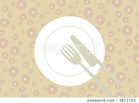 Table setting · flower pattern yellow · after meal 3871763