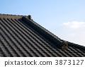 瓦屋頂房子和天空 3873127