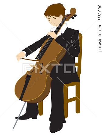 A man playing the cello 3881090