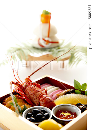 osechi, food served during new years, multi-tiered box 3889581