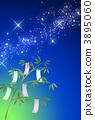밤하늘과 칠석 장식 3895060