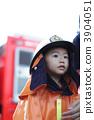 消防員服裝的孩子 3904051