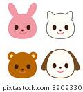 동물 토끼 고양이 곰 이누 3909330