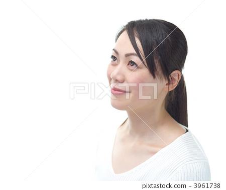 여성 초상화 (흰색 배경) 3961738