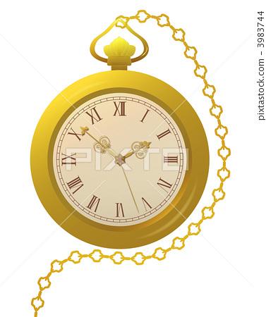 掛錶 金手錶 剪貼畫 3983744