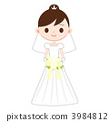 Bride wearing a wedding dress 3984812