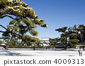 Snow scenic Imperial Palace garden 4009313