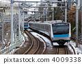 Railway end of residual snow 4009338