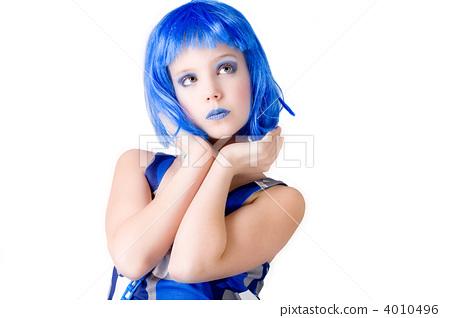 Blue girl is looking elegent 4010496