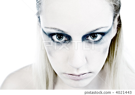 Studio portrait of a young blond woman being horrible 4021443